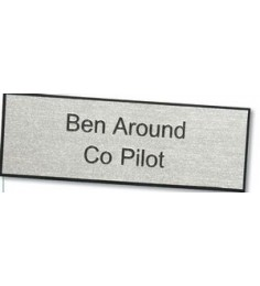 "Engravable Rectangular Plastic Name Badge (1.5""x3"")"