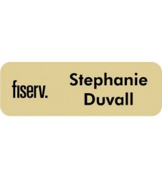 "Engraved Plastic Name Badge with Personalization 1"" x 3"""