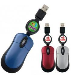 GoodValue® Mini Optical USB Mouse w/ Retractable Cord