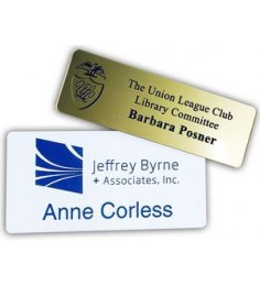"1.5"" x 3"" Name Badge - Plastic Engraved"