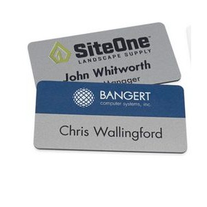"""Magnetic Name Badges- 1.5"""" X 3"""" (Silver)"""