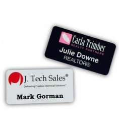 "1"" x 3"" Name Badge Digitally Printed"