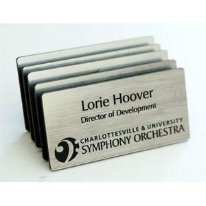 """Engraved Plastic Name Badge with Personalization 1.5"""" x 3"""""""