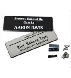 "1.25"" x 3"" Name Badge - Plastic Engraved"