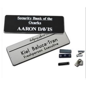 "1.25"" x 3"" Name Badge - Plastic Engraved"