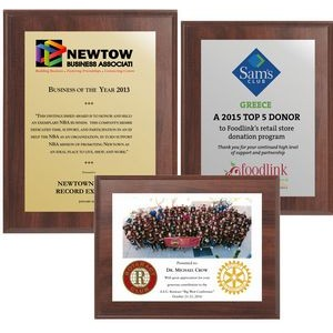 """8"""" x 10"""" Cherry Finish Plaque w/ Full Color Sublimated Imprint"""